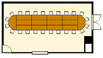 ディナー(オーバル)スタイルのレイアウトイメージ
