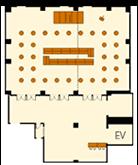 立食センターブッフェスタイルのレイアウトイメージ