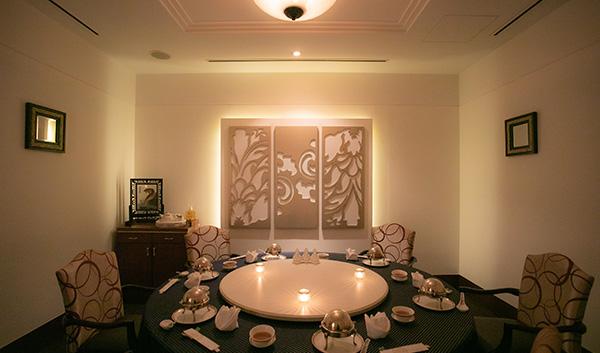 中国料理 マンダリンキャップ 個室 内観 円卓の画像